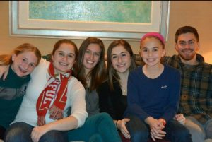 Jaclyn with her cousins during Thanksgiving last year