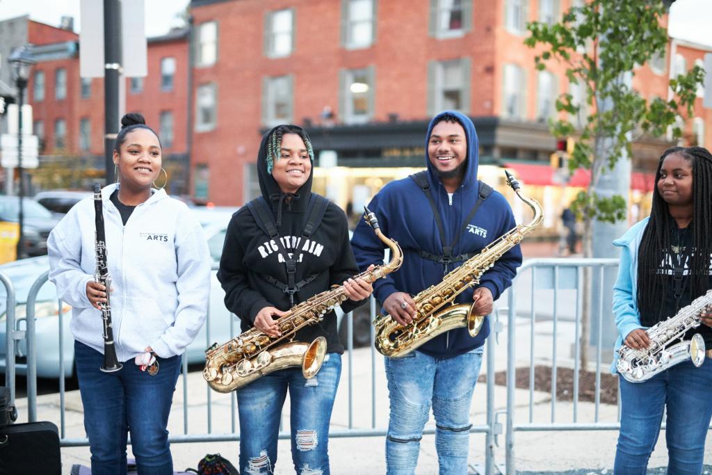 Baltimore Homecoming Band: oboe & three sax players